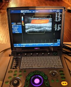 Ge Logiq E Portable Ultrasound Machine System With 8l rs Charger And Case