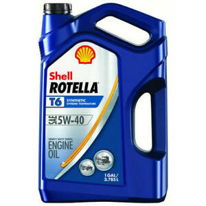 6 Pack Shell Rotella T6 5w 40 Full Synthetic Heavy Duty Diesel Engine Oil