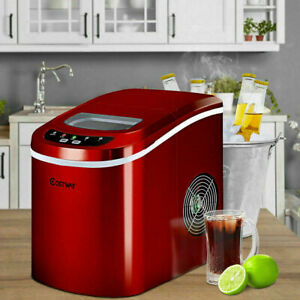 New Portable Compact Electric Ice Maker Machine Mini Cube 26lbs day Red New