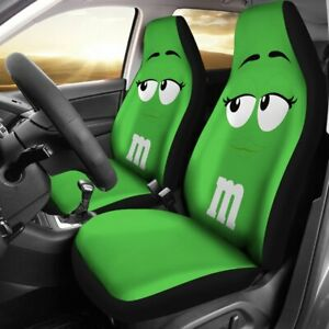 New Car Seat Cover M M Green Chocolate V2 Seat Protector Universal Fit 2pcs