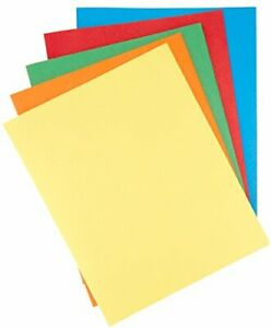 Basics Twin Pocket File Folders With Fasteners 25 pack