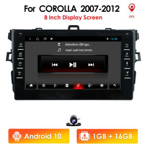 9 Android Car Radio Gps Stereo For Toyota Corolla 2007 2008 2009 2010 2011 Cam