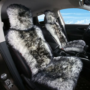 Sheepskin Fur Car Seat Covers Wool Car Seat Cushion For Adults 1 Front Seat