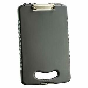 Officemate Oic Letter a4 Size Tablet Clipboard Case Charcoal 83314