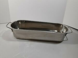 Oval Polished Stainless Steel Buffet Server Pans 18 X 6 X 4