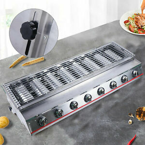Lpg Commercial Multi function 8 Burner Gas Bbq Grill Outdoor Cooker Stainless