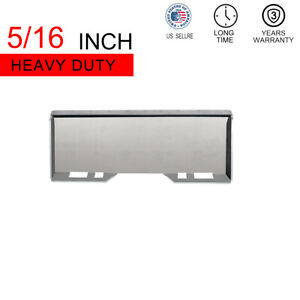 5 16 Mount Plate Skid Steer Hitch Quick Attachment Tach For Kubota
