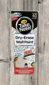 Crayola Dry erase Wall Paint Clear Idea Paint Covers 40 Sq Feet