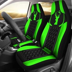 New Car Seat Cover Deerneon Green Seat Protector Universal Fit 2pcs
