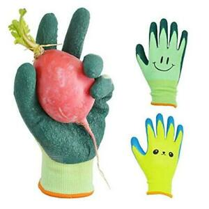 Kids Gardening Gloves For Ages 2 12 size 2 For 2 3 4 Year Old Green yellow