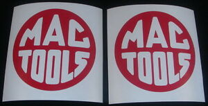 2x Mac Tools 3 Red Decals Stickers For Cars Truck Van Toolbox Windows