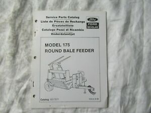 1990 Ford New Holland 175 Round Bale Feeder Parts Catalog Book Manual