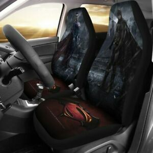 New Car Seat Cover Hope Without Fear Batman Superman Protector Universal Fit 2pc