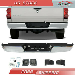 Rear Step Bumper Assembly Chrome Steel For 2004 2008 Dodge Ram 1500 2500 3500 Hd