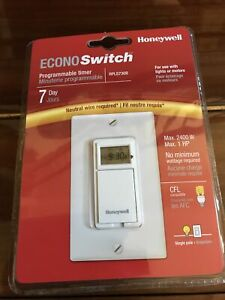 Honeywell Econoswitch Rpls730b 7 Day Programmable Timer Neutral Wire Required