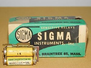 Vintage Sigma Instruments 8000 Cds Sil Relay With Box Nos Unused