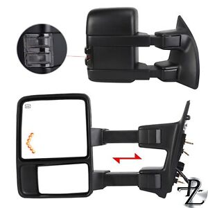 Towing Mirrors 99 07 F250 F550 Super Duty Power Heated Pair
