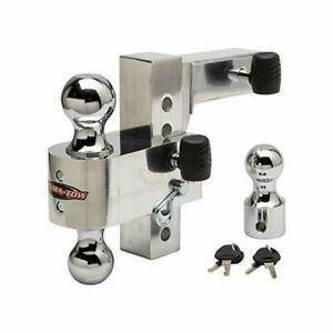 Uriah Products Aluma tow 6 Drop Ball Mount For 2 Receiver Ut623410