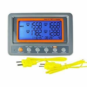 Thermometer Thermocouple K Type 4 channel Multi Channel Sd Card Data Logger T