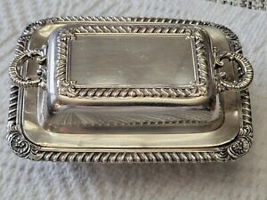 Vintage Victorian Silver Petite Covered Butter Dish