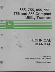 John Deere 655 755 855 955 756 And 856 Compact Utilitty Tractors Technical M
