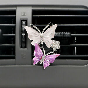 Butterfly Car Air Freshener Perfume Natural Smell Air Conditioning Outlet Clip F
