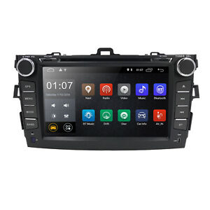 For Toyota Corolla 2006 2012 Gps Navigation Android 9 1 Car Stereo Radio Dvd Bt