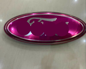 Pink Chrome 2005 2014 For F150 Front Grille Tailgate 9 Inch Oval Emblem 1pcs