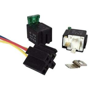 Relay Fused Car Accessory 30a 4 pin Holder Electronic Automot V I1h3 With Us Zy