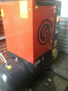 5hp Chicago Pneumatic Rotary Screw Air Compressor Cpx40 Air Dryer Air Piping