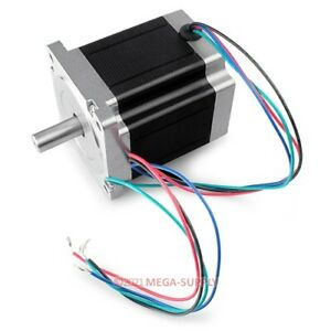 Nema 34 Cnc Router Stepper Motor 2 Phase 4 Wires Gb34h298 40 4b Dual Shafts 5nm
