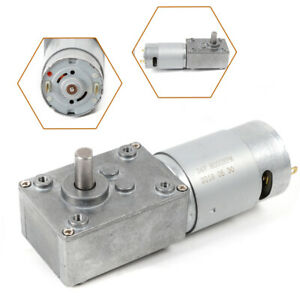 5 10 rpm Electric Gear Motor 12v High Torque Low Speed Worm Reversible Us Stock