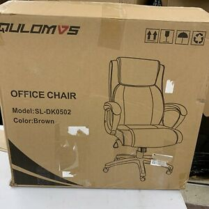 Qulomvs Executive Office Chair With Arms High Back Computer Ergonomic Desk Chair