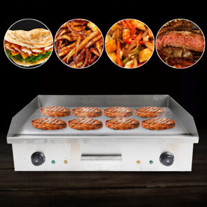 Commercial Countertop Griddle Flat Top Bbq Grill Stainless Steel Cooking Machine
