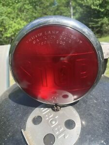 Vintage Stop Tail Light Fire Truck Model A T Ford Rat Rod Wrecker Chevy 7 3 8