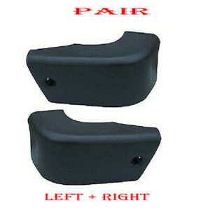 Fits 1984 1988 Toyota Pickup New Front Left Right Side Bumper End Cap Set Of 2
