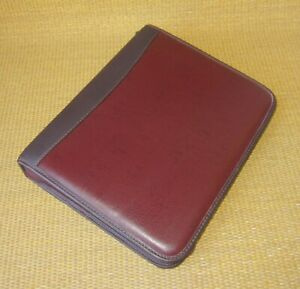 Classic Franklin Covey quest Burgundy Faux Leather 1 5 Rings Planner binder