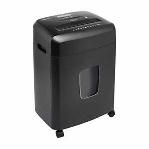 Basics 15 sheet Cross Cut Paper And Cd Office Shredder With Pull Out Basket