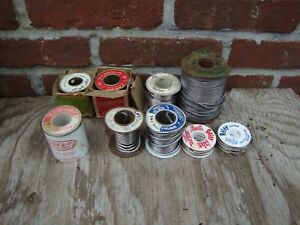 Lot Of 10 Pounds Partial Rolls Vintage Wire Solder Mixed Brands 10lbs Oatey Lfi