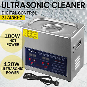Industry Ultrasonic Cleaner Equioment 3l Stainless Steel Heated Heater W timer