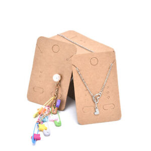 100pcs Earrings Necklace Holder Display Cards Jewelry Display Kraft Carda Ts