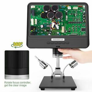 Digital Microscope For Soldering 1280 800 Ad208s dm4 Camera 1x 1200x Magnifier