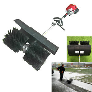 Gas Power Hand Held Cleaning Sweeper Broom Driveway Turf Artificial Grass 52cc