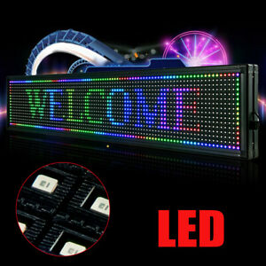 New Led Sign 40 x8 Outdoor Message Board 7 Color Programmable Display Scrolling