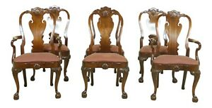 L52344ec Set Of 6 Hickory Chair Co Ball Claw Mahogany Dining Chairs
