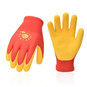 Vgo 2 pairs Kids Youth Polyester Work Gloves For Gardening Fishing Clamming