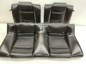 2005 2009 Oem Ford Mustang Coupe Base Rear Black Leather Back Seats T1397