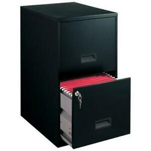 Filing Cabinet 2 Drawer Steel File Storage Lock Home Office Durable Black New