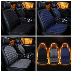 Us 2pcs 12v Heated Car Seat Cover Kit Warmer Cushoin Seater Universal For Winter