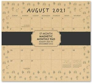 Orange Circle Tiny Totems 2022 Magnetic Monthly Desk Pad New Free Shipping
